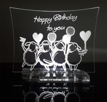 "Acryl Aufsteller Sheep Serie ""Happy Birthday"""