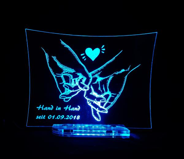 Hand in Hand LED ice-blue